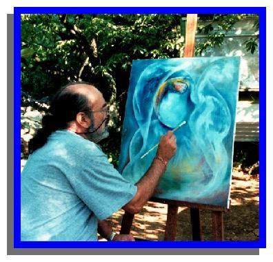 Le peintre en pleine inspiration